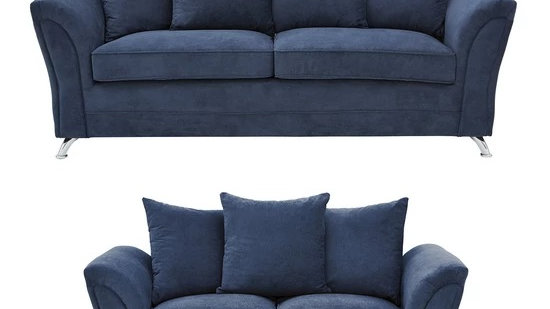 Dury Fabric 3 Seater + 2 Seater Scatter Back Sofa Set