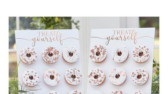 Ginger Ray Rose Gold Treat Yourself Double Donut Wall Holders