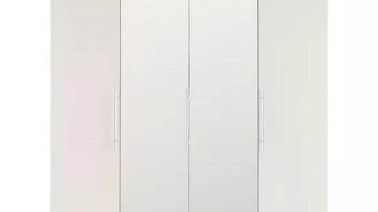 Prague 4 door Mirrored Wardrobe with 3 Internal Drawers