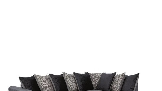 Hilton Fabric and Faux Leather Right Hand and left hand chaise
