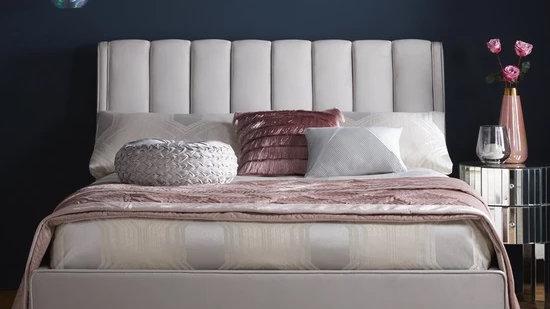 Michelle Keegan Home Phoebe Velvet king Bed Frame and mattress.