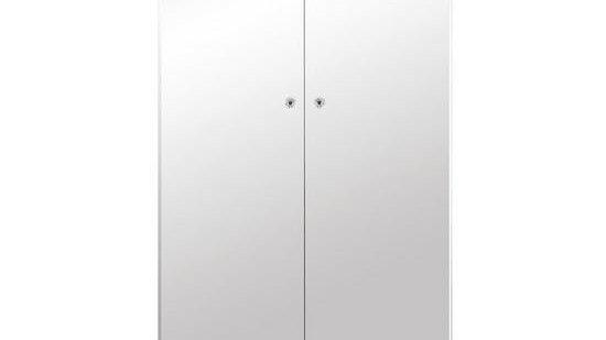 New Bellagio Mirrored 2 Door, 1 Drawer Wardrobe - White/Mirrors