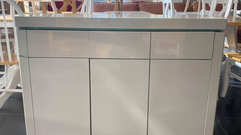 Atlantic High Gloss LARGE sideboard with LED GREY