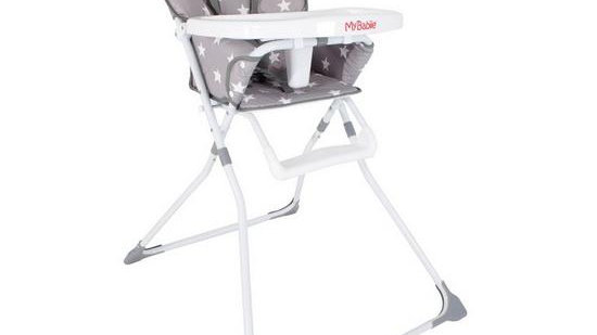 My Babiie MBHC1GS Grey Stars Compact Highchair