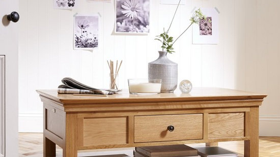 Constance Oak Ready Assembled Coffee Table