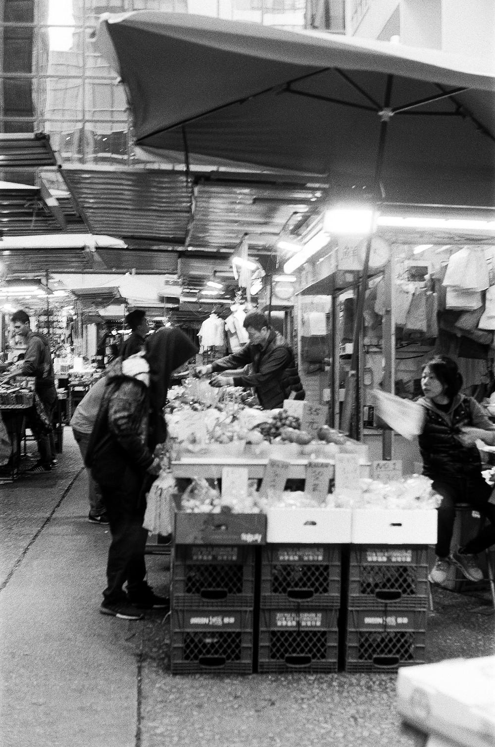 Wet. market in Causeway Bay