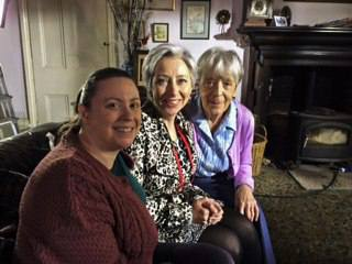 Me with a radiant Sarah Moyle (centre) and lovely Jean (right)