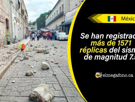 Sismo de magnitud 7,5 sacudió a México, el epicentro fue en el estado de Oaxaca