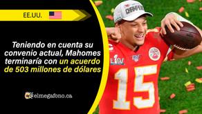 Patrick Mahomes, el nuevo deportista mejor pagado del mundo
