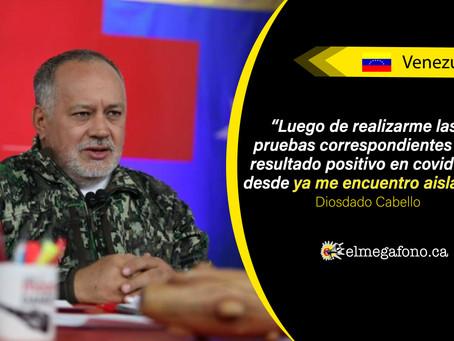 Diosdado Cabello revela que dio positivo por COVID-19