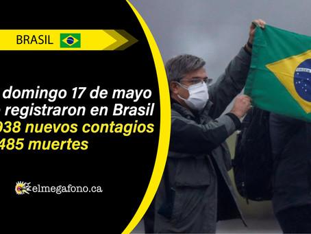 Brasil esta cerca de convertirse en el tercer país con más casos de COVID-19