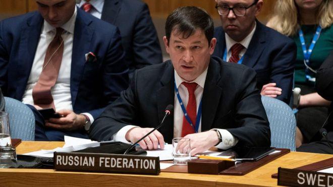 Dmitry Polyanskiy, embajador adjunto ruso ante Naciones Unidas