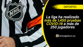 La NHL informó que 26 jugadores han dado positivo por COVID-19 desde el 8 de junio