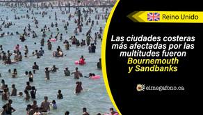 Miles de visitantes invaden las playas del Reino Unido en medio del verano sin precaución alguna