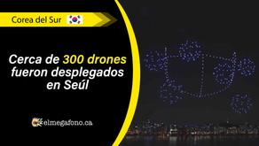 Espectáculo con drones en Corea del Sur mostró la importancia que tienen las medidas de bioseguridad