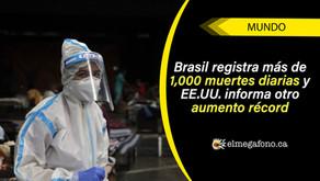 India cruza el millón de casos de COVID-19 mientras Brasil supera los 2 millones