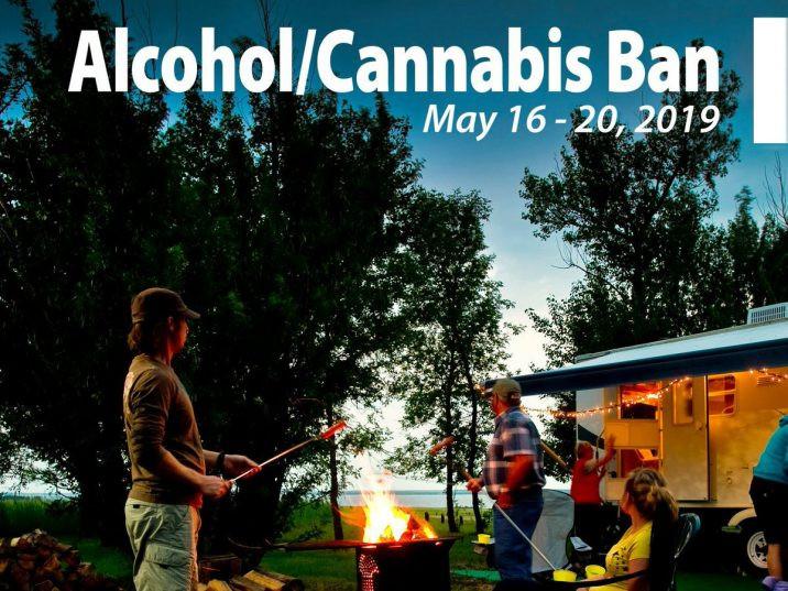 El consumo de cannabis está prohibido en los lugares públicos de Saskatchewan, pero los campings están legalmente considerados como espacios privados según la Ley de Control de Cannabis de la provincia. Foto: @SKGov Twitter