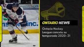 Ontario Hockey League cancela su temporada 2020-21