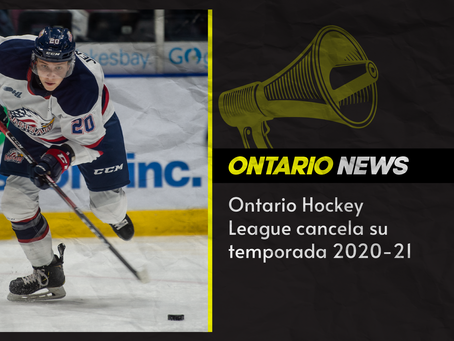 Ontario Hockey League cancela su temporada 2020-21