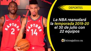 La NBA realizará pruebas de COVID-19 a jugadores y personal cada dos días a partir del 23 de junio