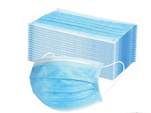 Disposable face masks with earloop (3 ply) 50pck