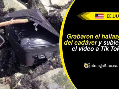 Jóvenes hallaron restos de un cadáver al interior de una maleta e hicieron un video para Tik Tok