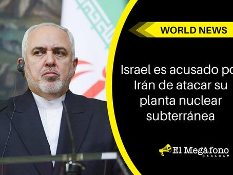 Israel es acusado por Irán de atacar su planta nuclear subterránea