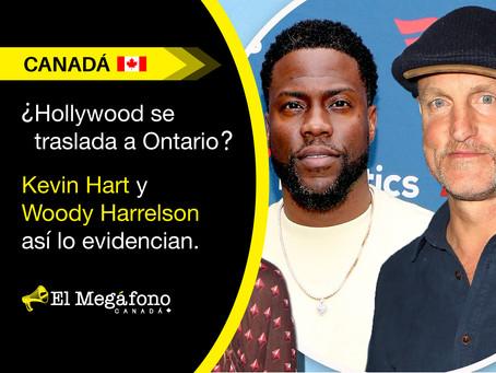 Hollywood se traslada a Ontario? Kevin Hart y Woody Harrelson así lo evidencian.