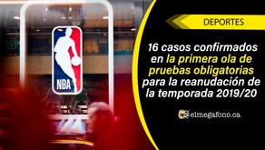 16 de 302 jugadores de la NBA dieron positivo por COVID-19, sus nombres no fueron revelados