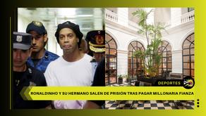 Ronaldinho sale de prisión y permanece en un lujoso hotel bajo arresto domiciliario en Paraguay