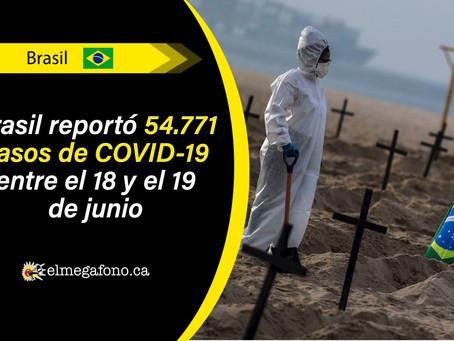 Brasil, el primer país más afectado por la pandemia de COVID-19 en Latinoamérica