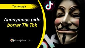 Anonymous acusa a Tik Tok por ser una aplicación de espionaje masivo del gobierno chino