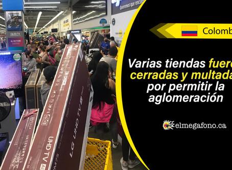 Caos tras día sin IVA en Colombia, no tardaron en formarse las multitudes