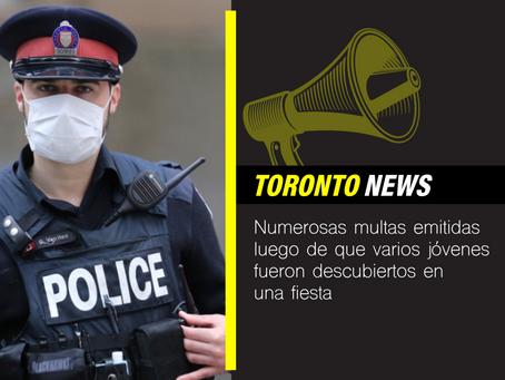 Numerosas multas emitidas luego de que varios jóvenes fueran descubiertos en una fiesta en Toronto