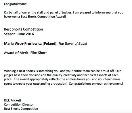 best short film babel wróż-prusiewicz