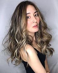Balayage big wave curl ✨ Thank you Aya c