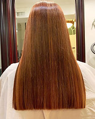 Copper orange blond Highlights ✨#hairbym