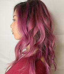 Violet pink Balayage #balayage #color #h