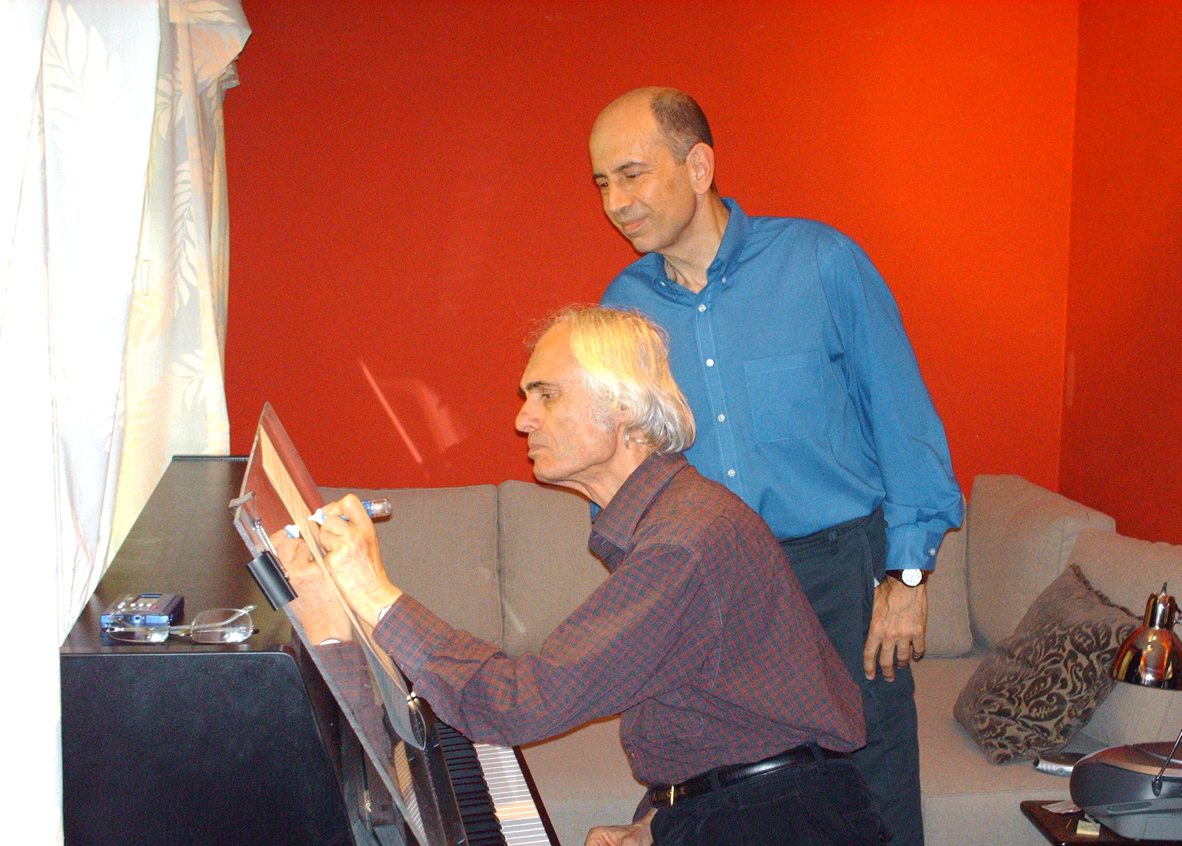 With composer Tigran Mansurian