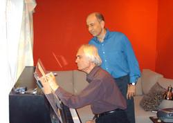 With composer Tigran Mansurian