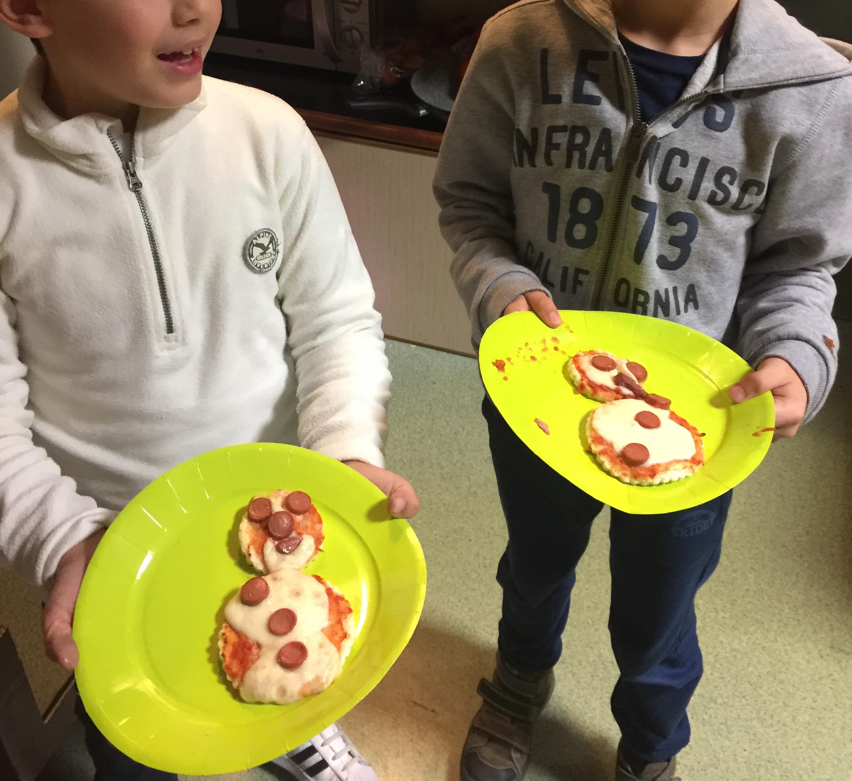 Snowman Pizzas!
