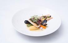 Seabass Filet with Saffron Sauce