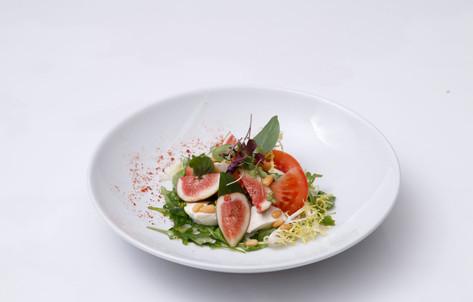 Tomatoes Mozzarella and fresh Fig Salad