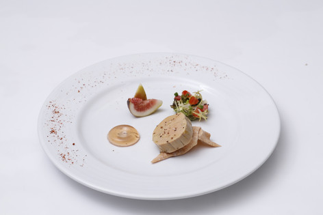 Foie Gras from France with Lobburi Fresh Fig and White Port Wine