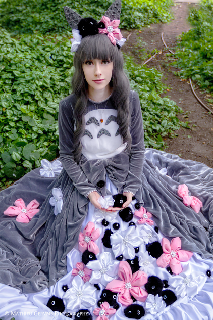 Cosplay inspired by Tonari no Totoro  Photo by Mathieu Gervais