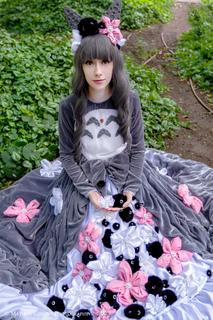Cosplay inspired by Tonari no Totoro  Photo by Mathieu Gervais