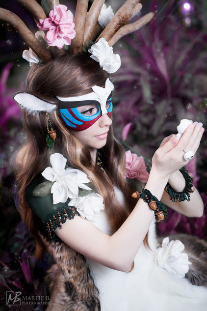 Cosplay inspired by the deer god from Mononoke Hime  Photo and edit by Martie B. Photographie
