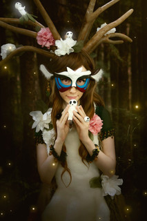 Cosplay inspired by the deer god from Mononoke Hime  Photo by Mathieu Gervais and edit by Mary-Ève Grégroir