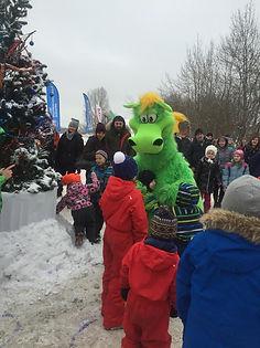 талисман клуба Ferz зеленый динозаврик Фези