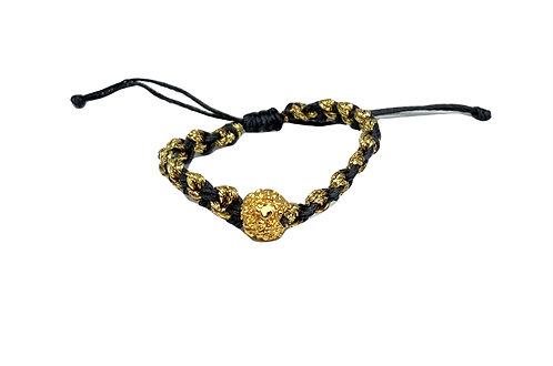 Rudra Prayer Bead Bracelet and Metallic Accent